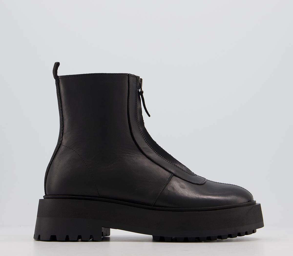 Accomplish Front Zip Ankle Boots