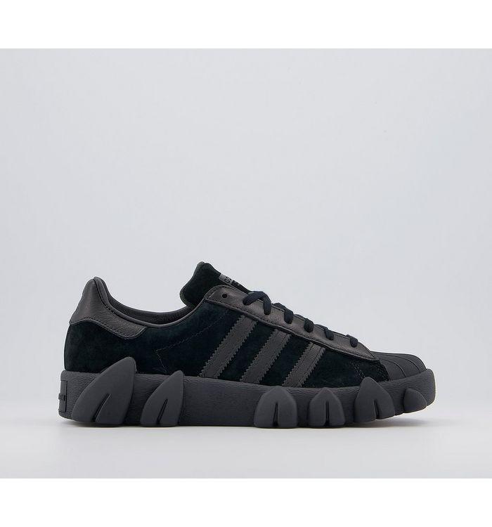 adidas Angel Chen Superstar 80s Trainers CORE BLACK WHITE,Black,Pink