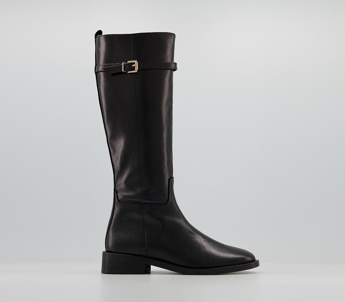 Kiara Smooth Sole Clean Knee Boots
