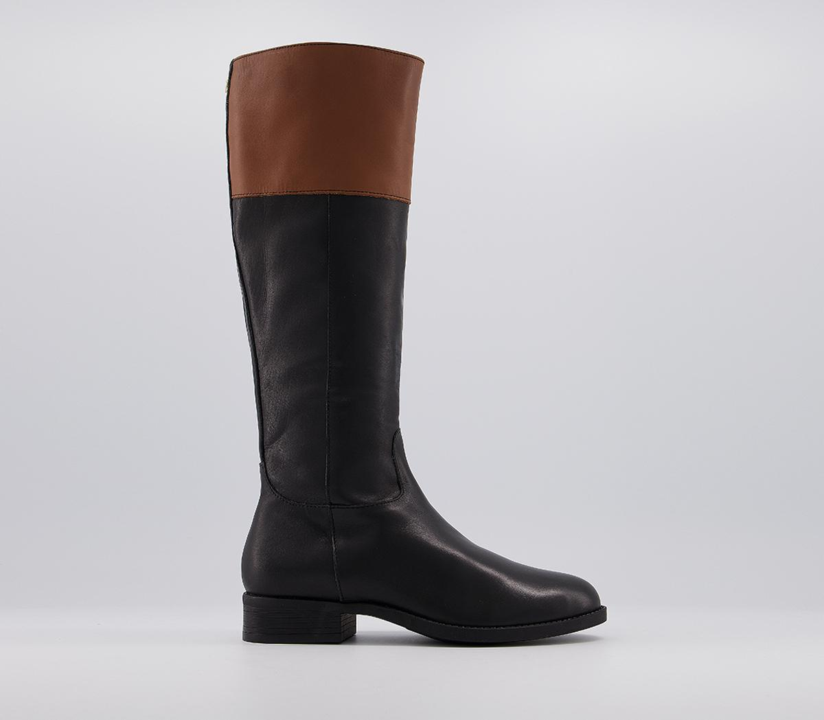 Keeping Colour Block Rider Knee Boots