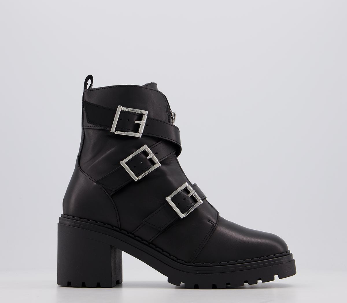 Absolute Buckle Casual Ankle Boots