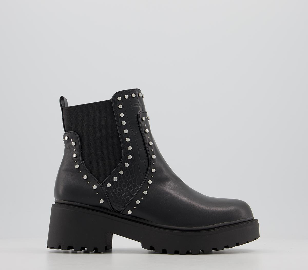 Above Studded Chelsea Ankle Boots
