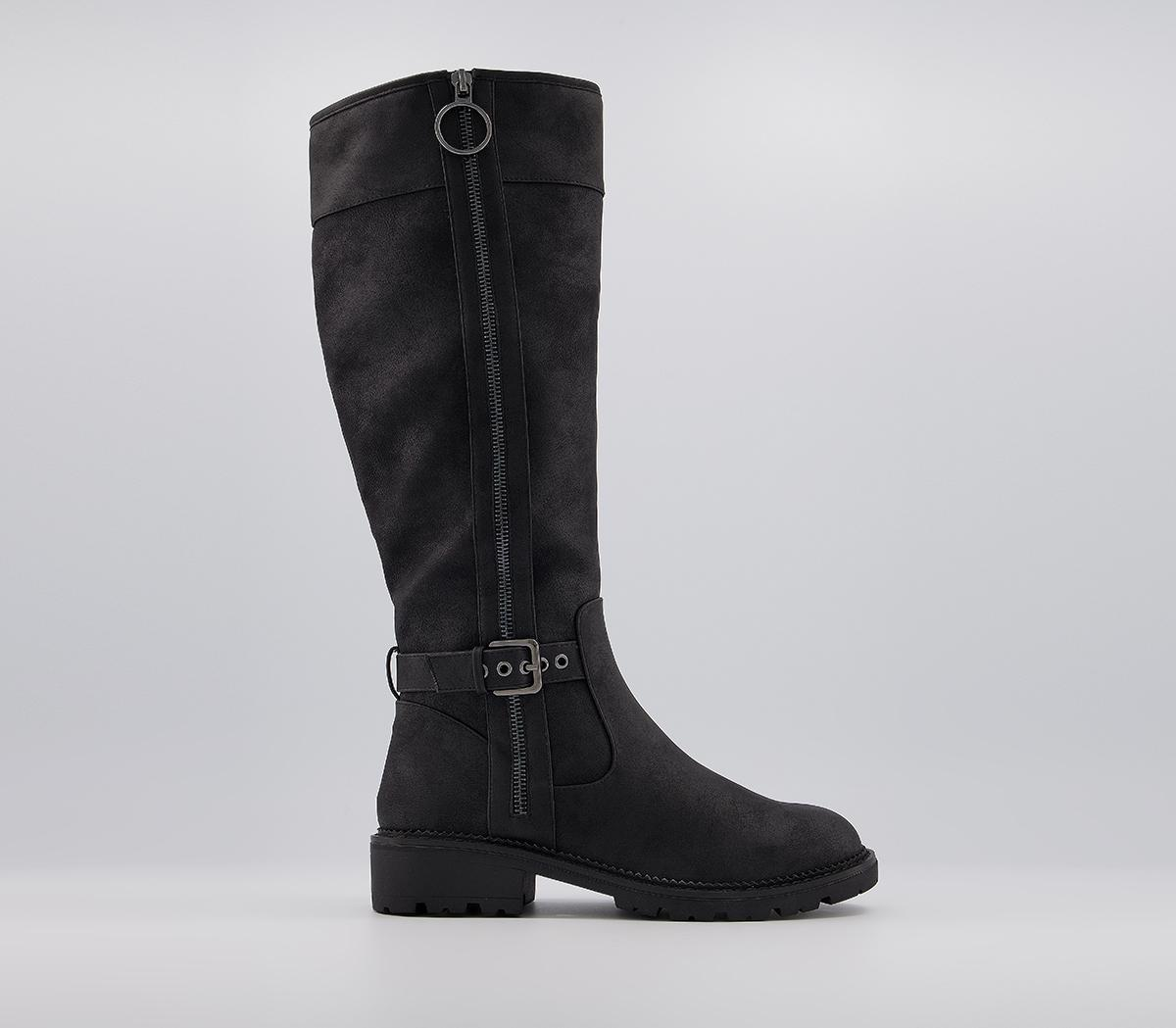 Kris Fur Lined Detail Knee Boots