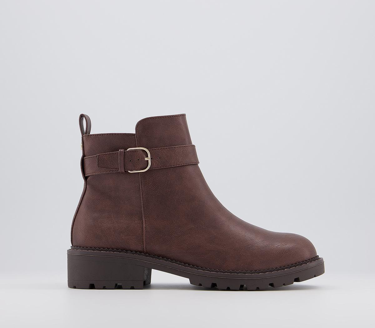 Announce Casual Buckle Ankle Boots