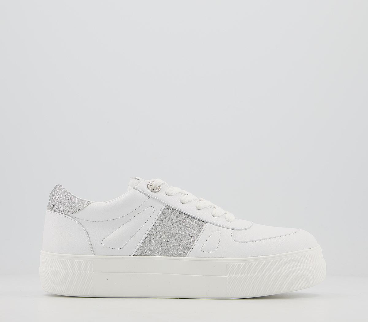 Fairly Feature Panel Lace Up Trainers