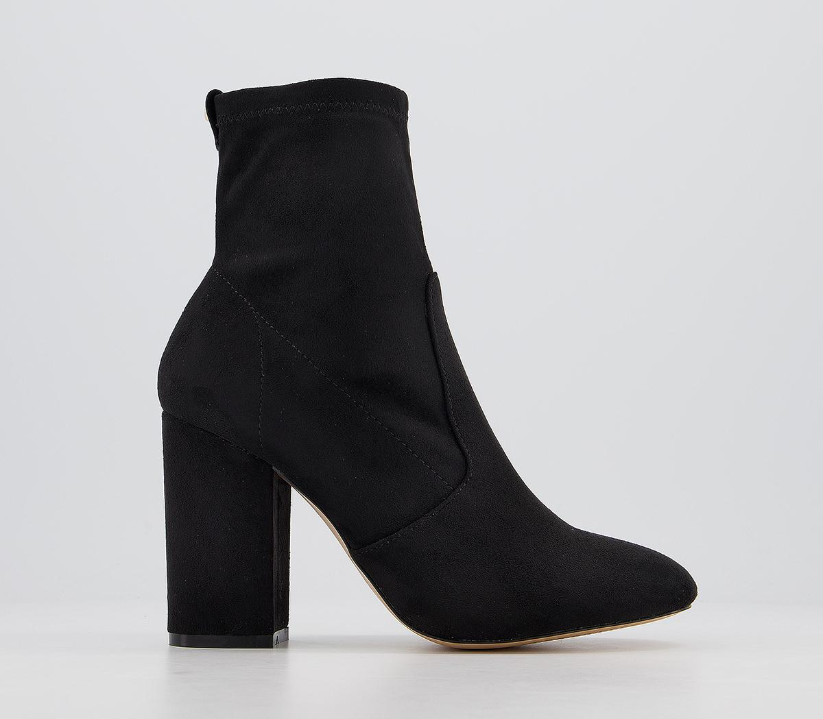 Aisling Stretch Block Heel Ankle Boots