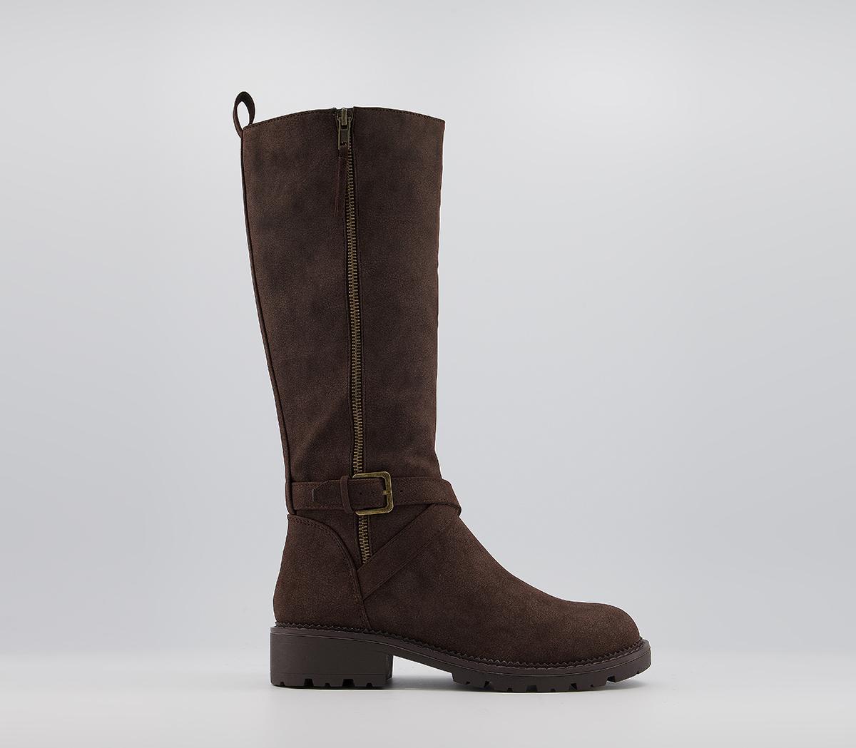 Karis Buckle Detail Knee Boots