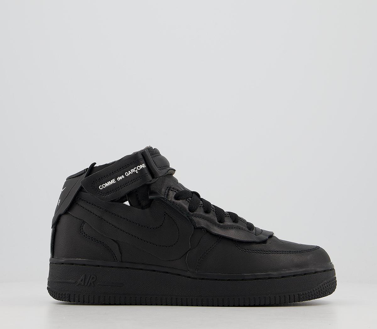 Cdg Nike Cut Off Air Force 1 Trainers