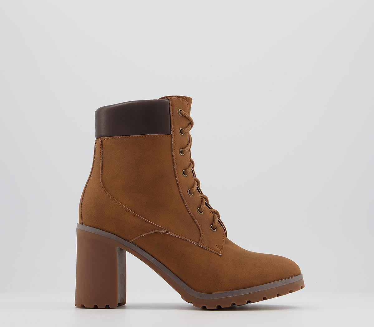 Access Heeled Casual Lace Up Boots