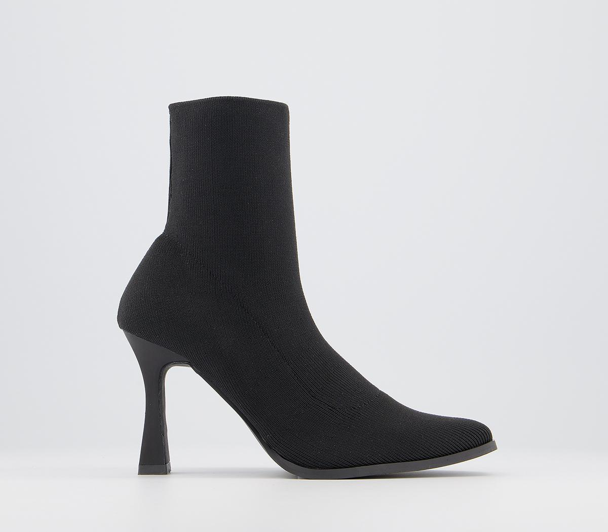 Abstract Pointed Stretch Ankle Boots