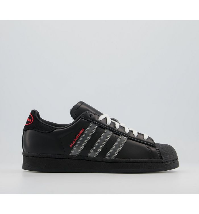 adidas Superstar Pleasures Trainers PLEASURES CORE BLACK,Black