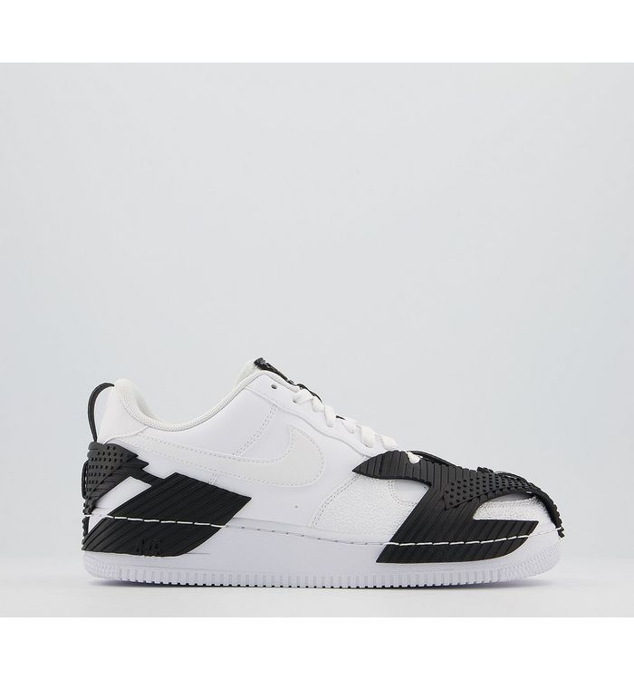 Nike Air Force 1 07 Trainers NDSTRKT WHITE WHITE BLACK,White,Natural,Tan,Black,Brown,Multi,Purple
