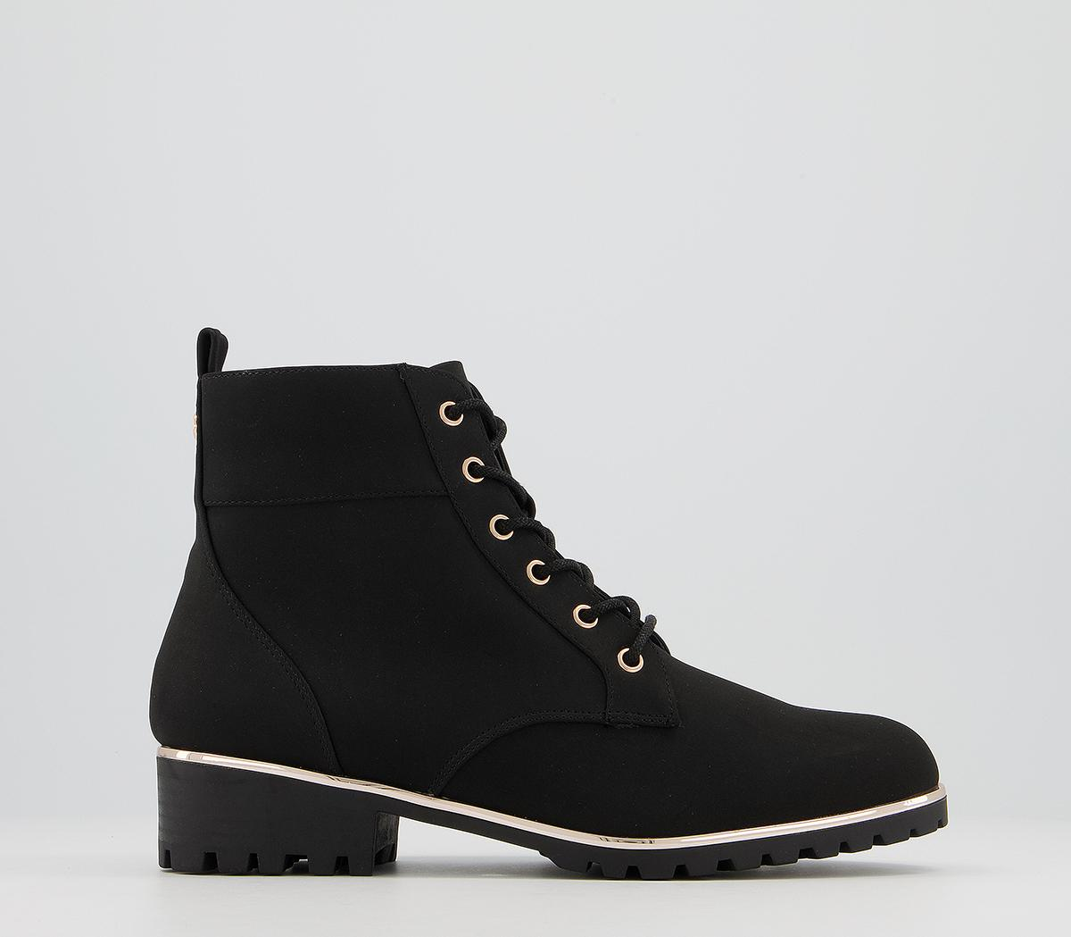 Article Hardware Lace Up Ankle Boots