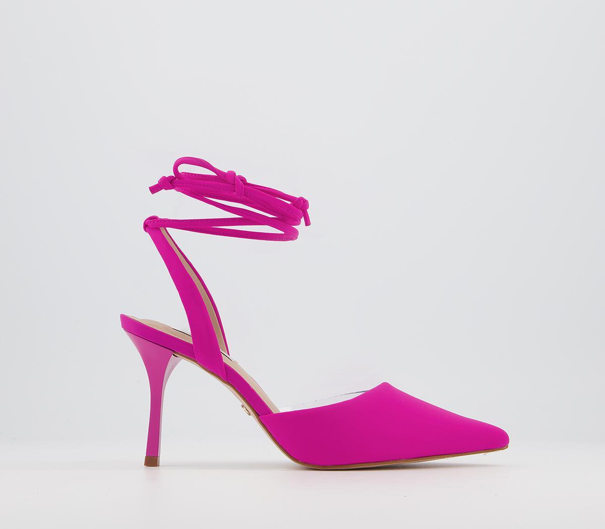 Meander Mid Ankle Tie Court Heels