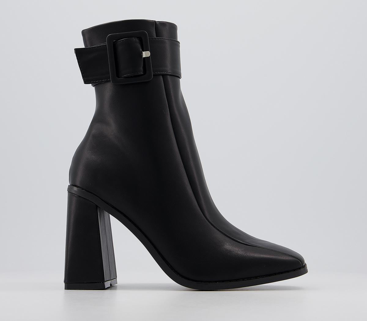 Buckle Detail Heeled Boots
