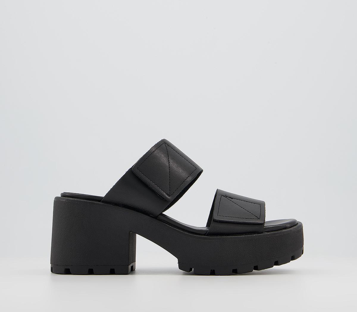 Dioon Double Strap Mule Heels
