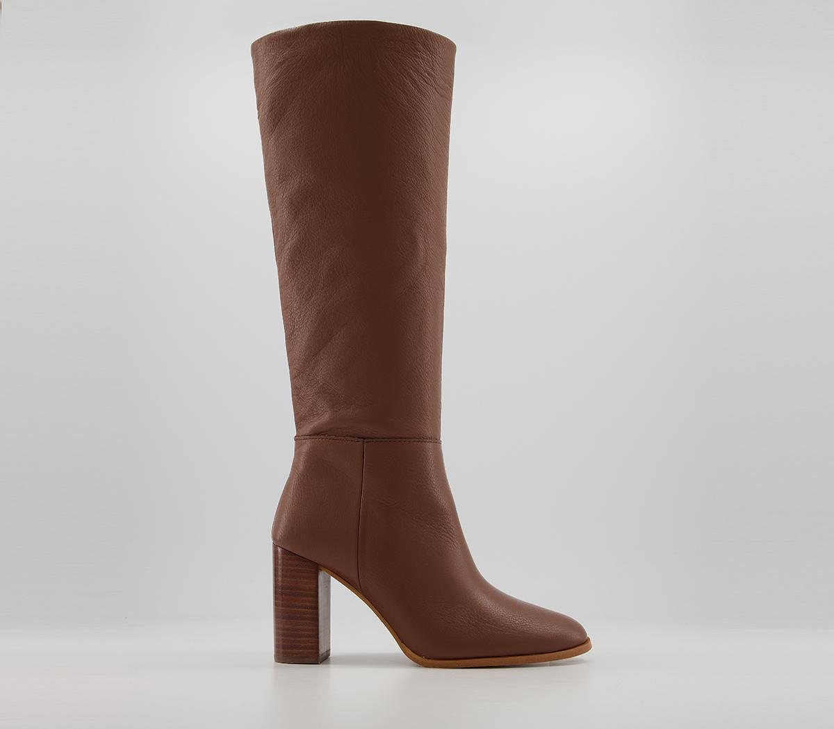 Kaitlyn - Block Heel Knee Boots
