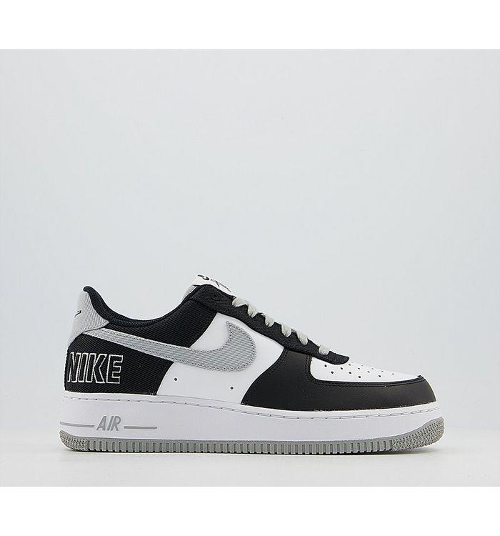Nike Air Force 1 Lv8 Trainers BLACK SILVER WHITE PINE GREEN SILVER,Black,White