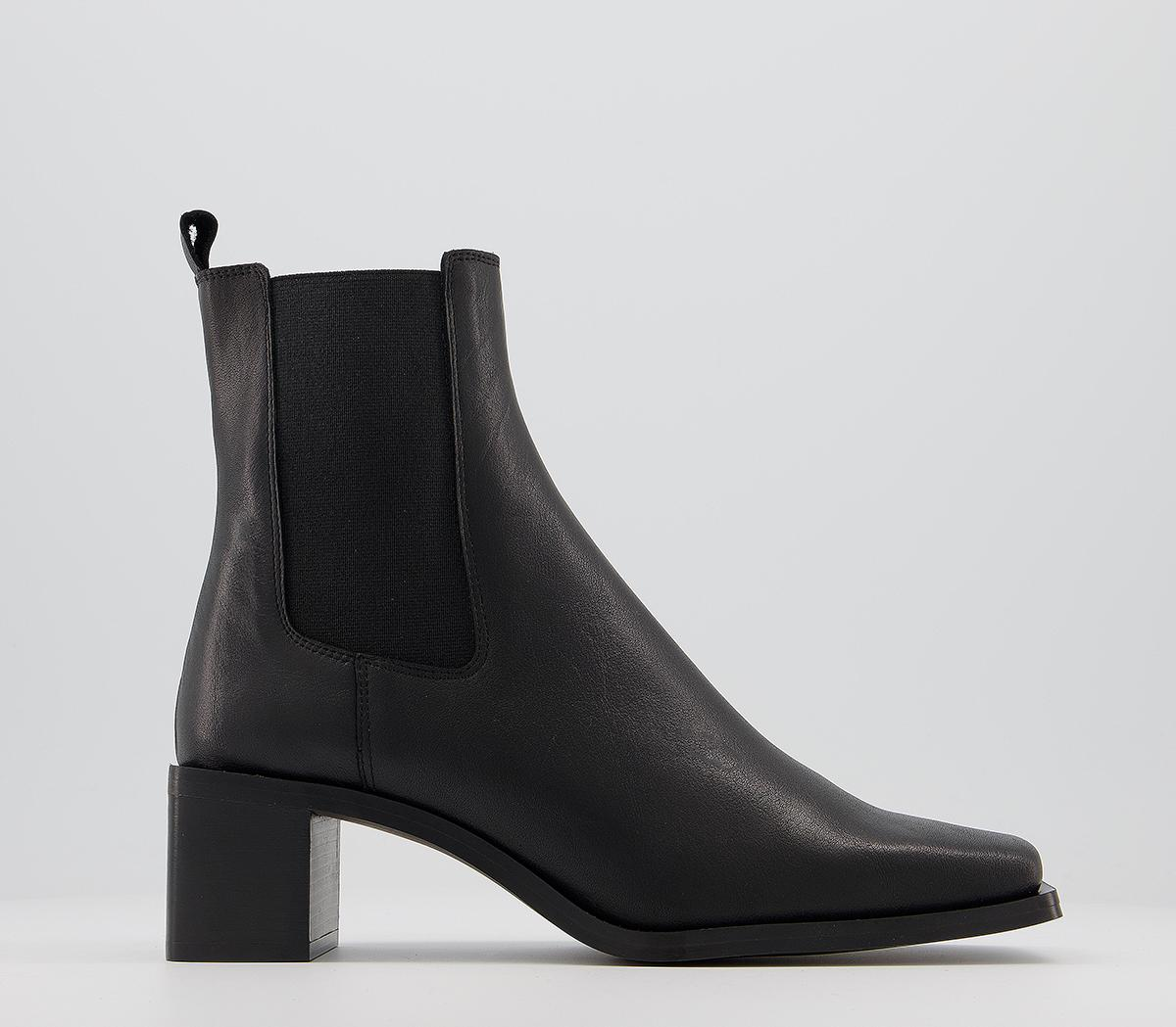 Appreciate Square Toe Block Heel Chelsea Boots
