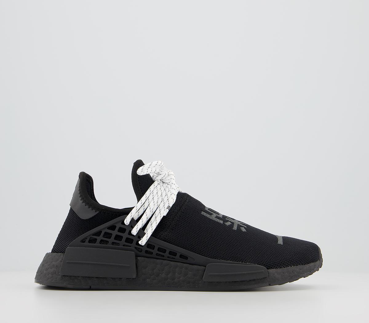 solid black adidas
