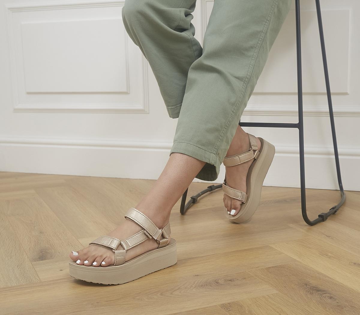 Flatform Leather Sandals