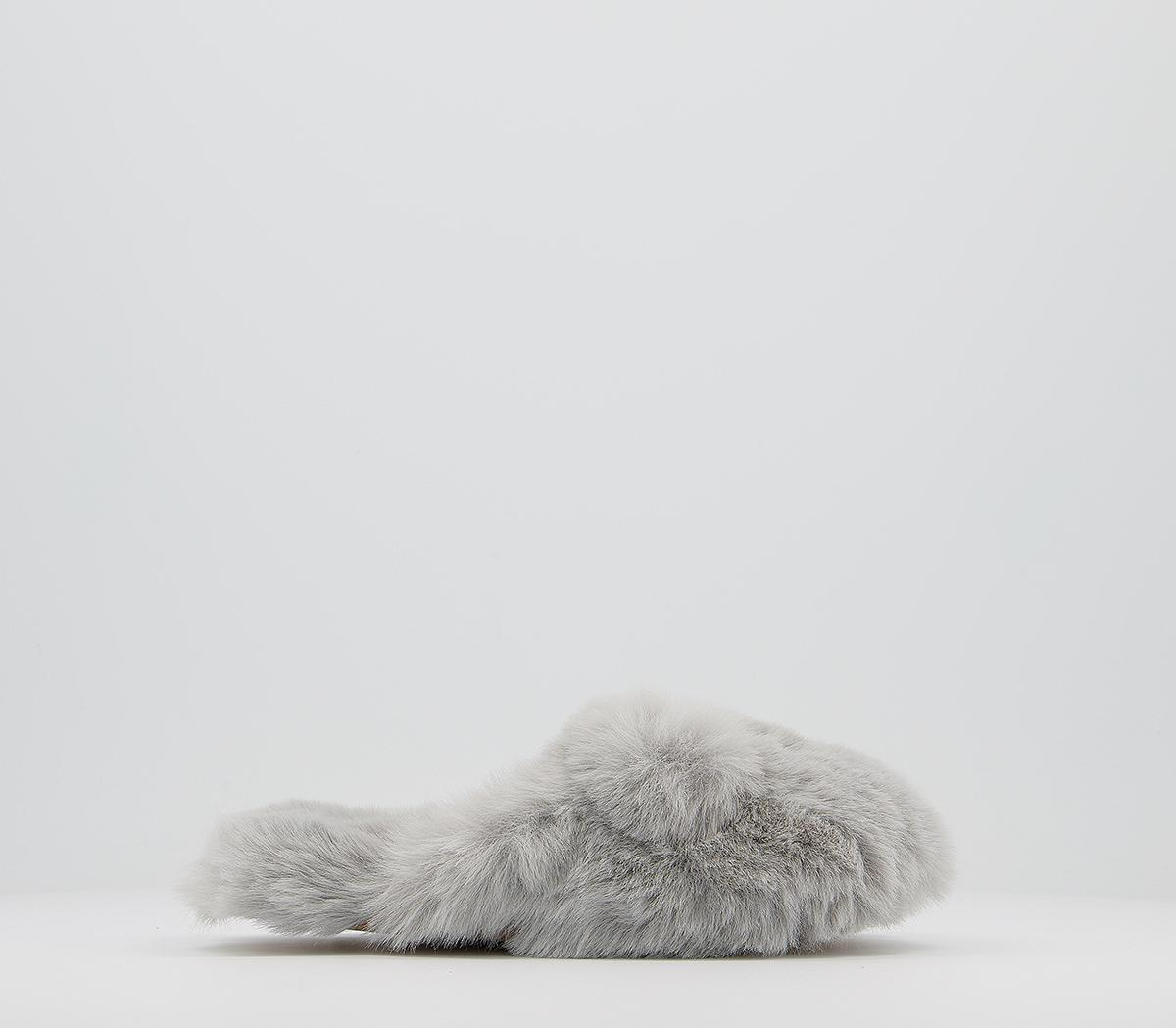 Cosy Fluffy Mule Junior Slippers