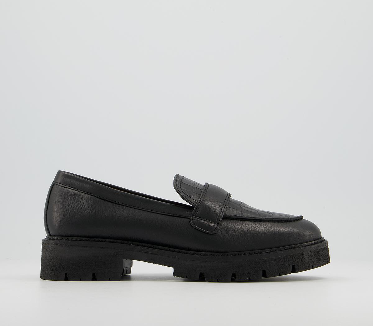 Frill Chunky Padded Loafer Shoes