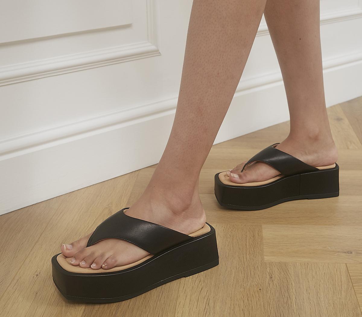 Juno Toe Thong Platform Sandals
