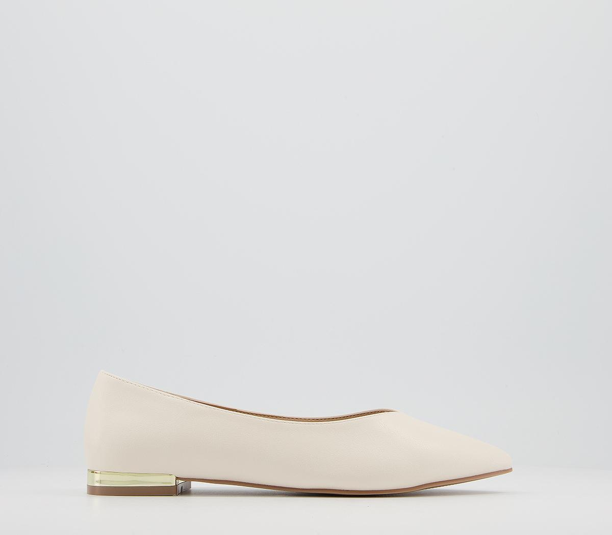 Feathered Heel Clip Pointed Pumps