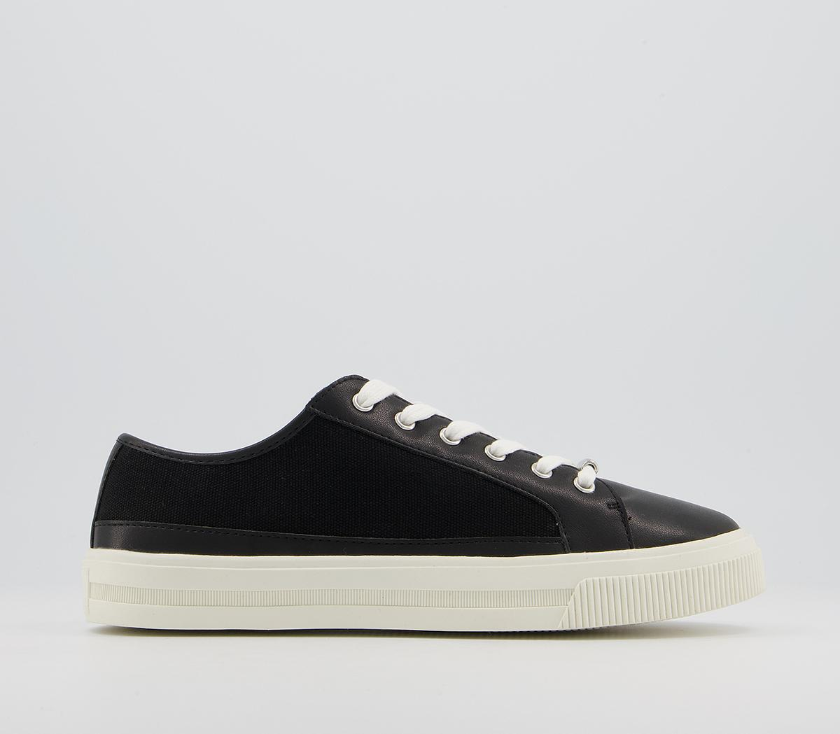 Finest Canvas Lace Up Trainers