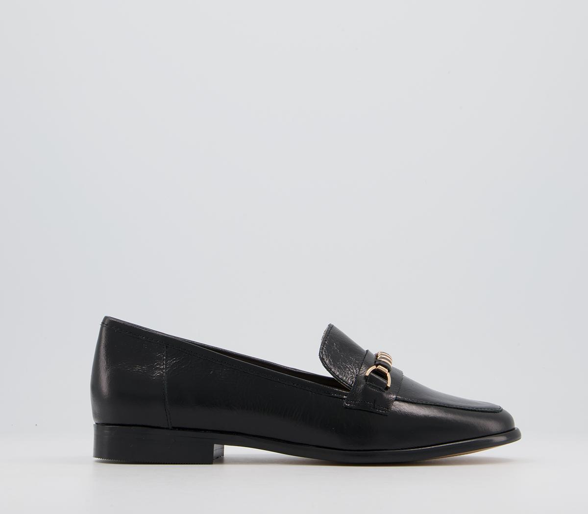 Faxed Feature Trim Loafers