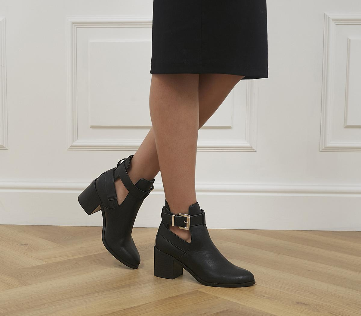 Admit Cut Out Block Heel Boots