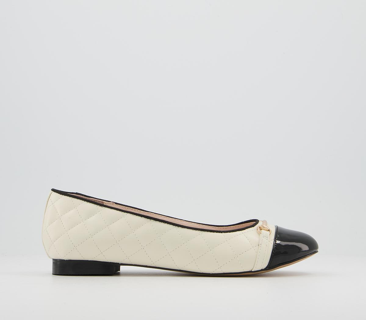 Fiona Quilted Trim Ballet Shoes