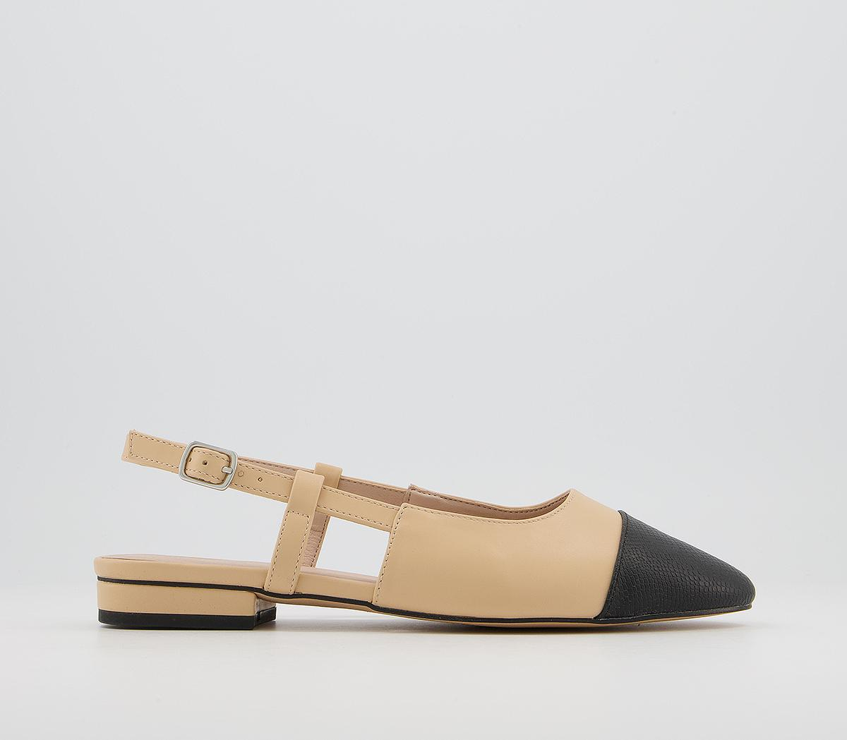 Francine Toe Cap Sling Back Shoes