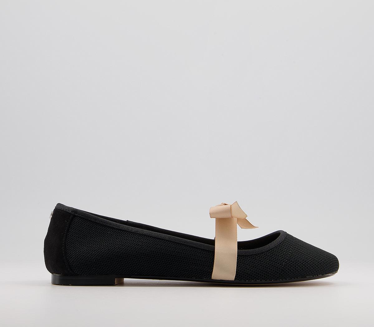 Flowing Bow Strap Ballet Flats