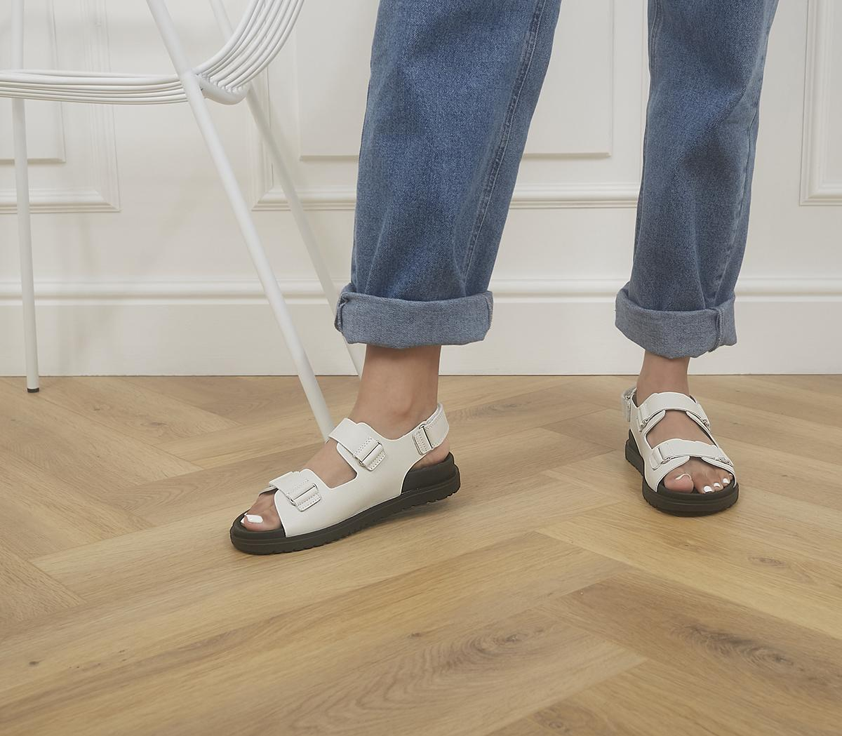 Sleek Double Strap Footbed Sandals