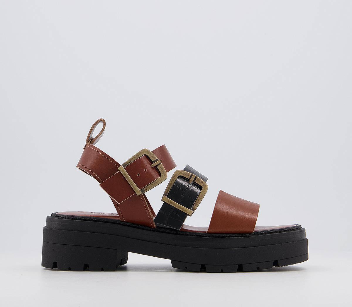 Mask Chunky Buckle Sandals