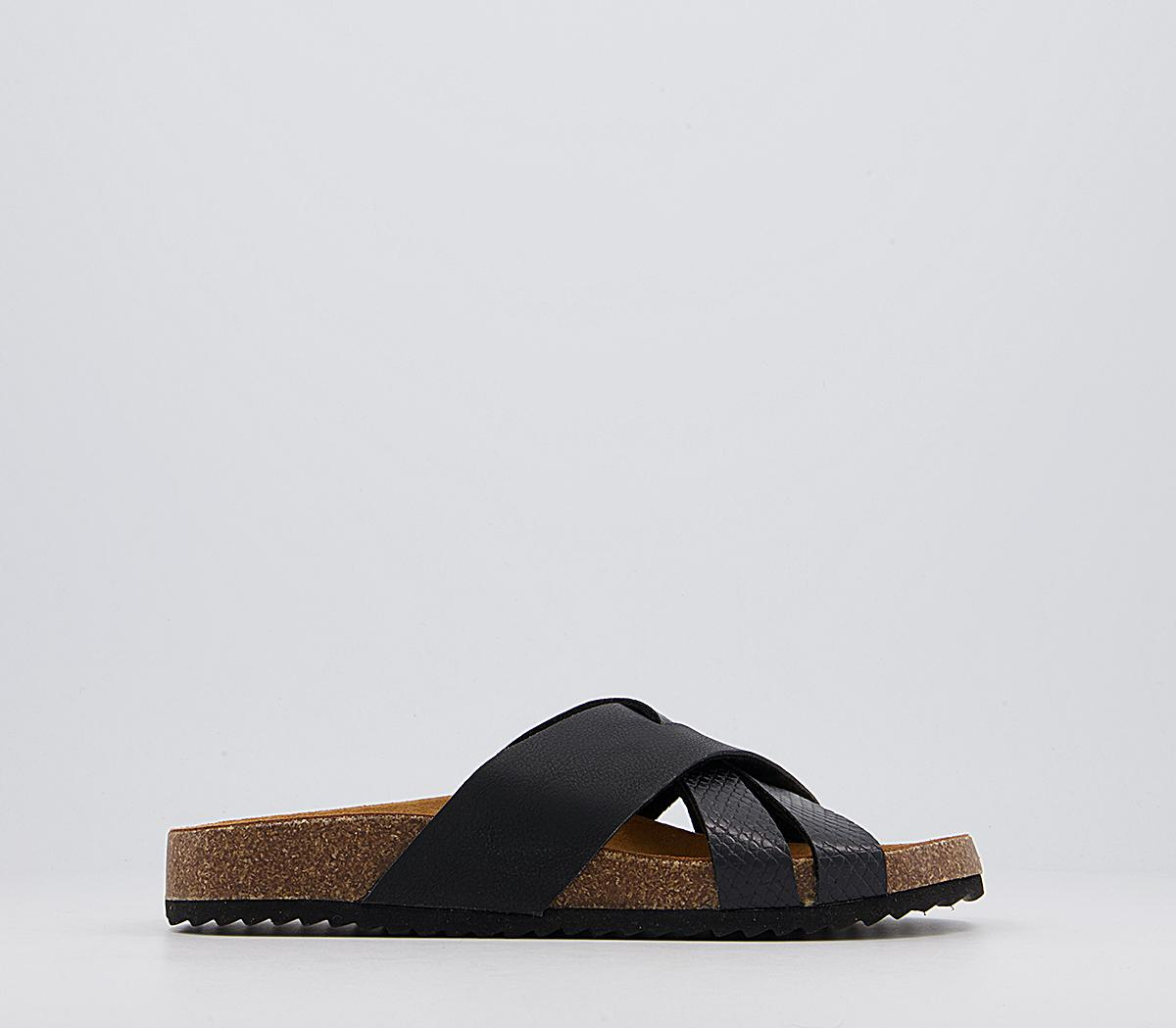 Saviour Cross Strap Footbed Sandals