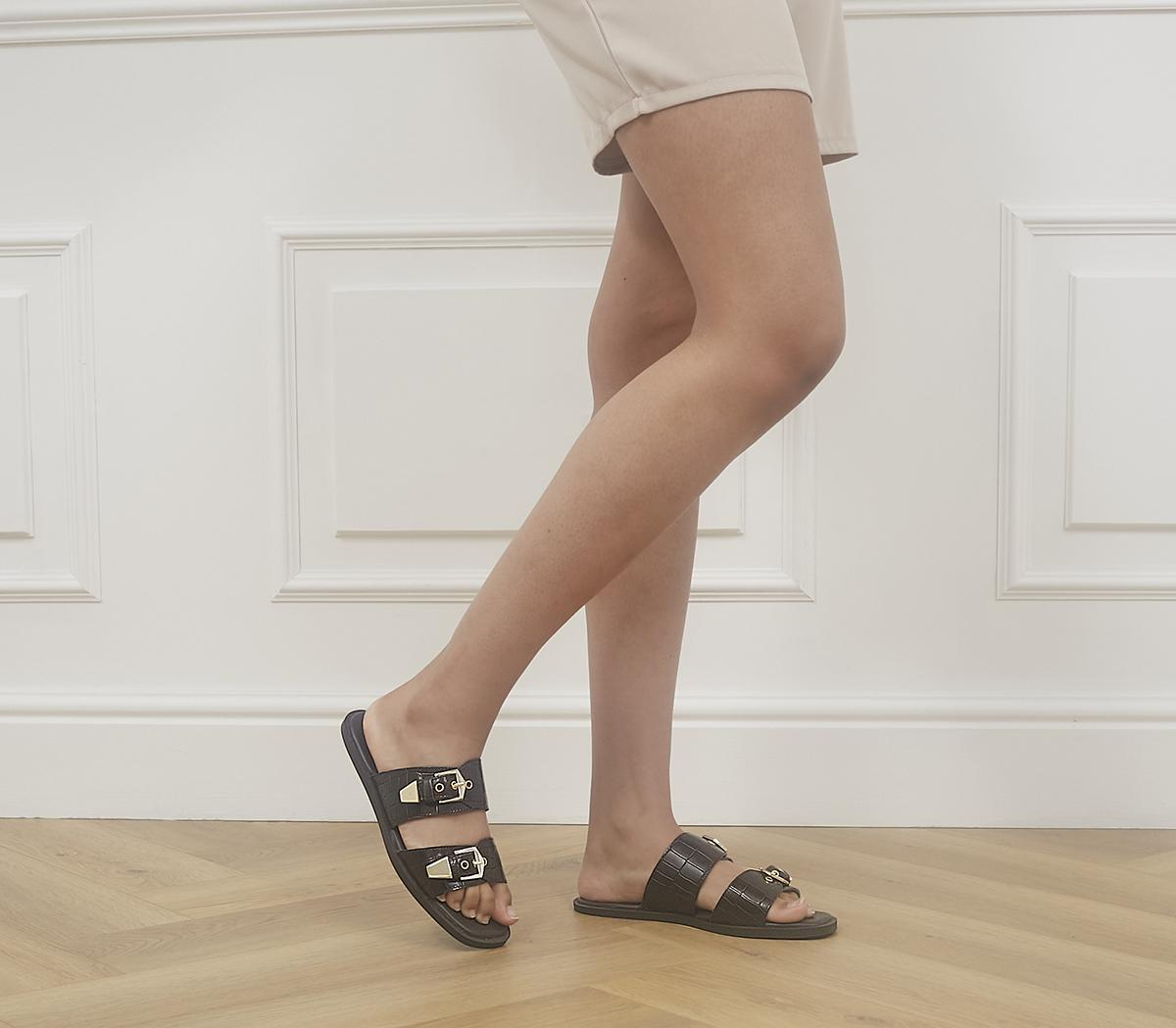 Server Double Buckle Sandals