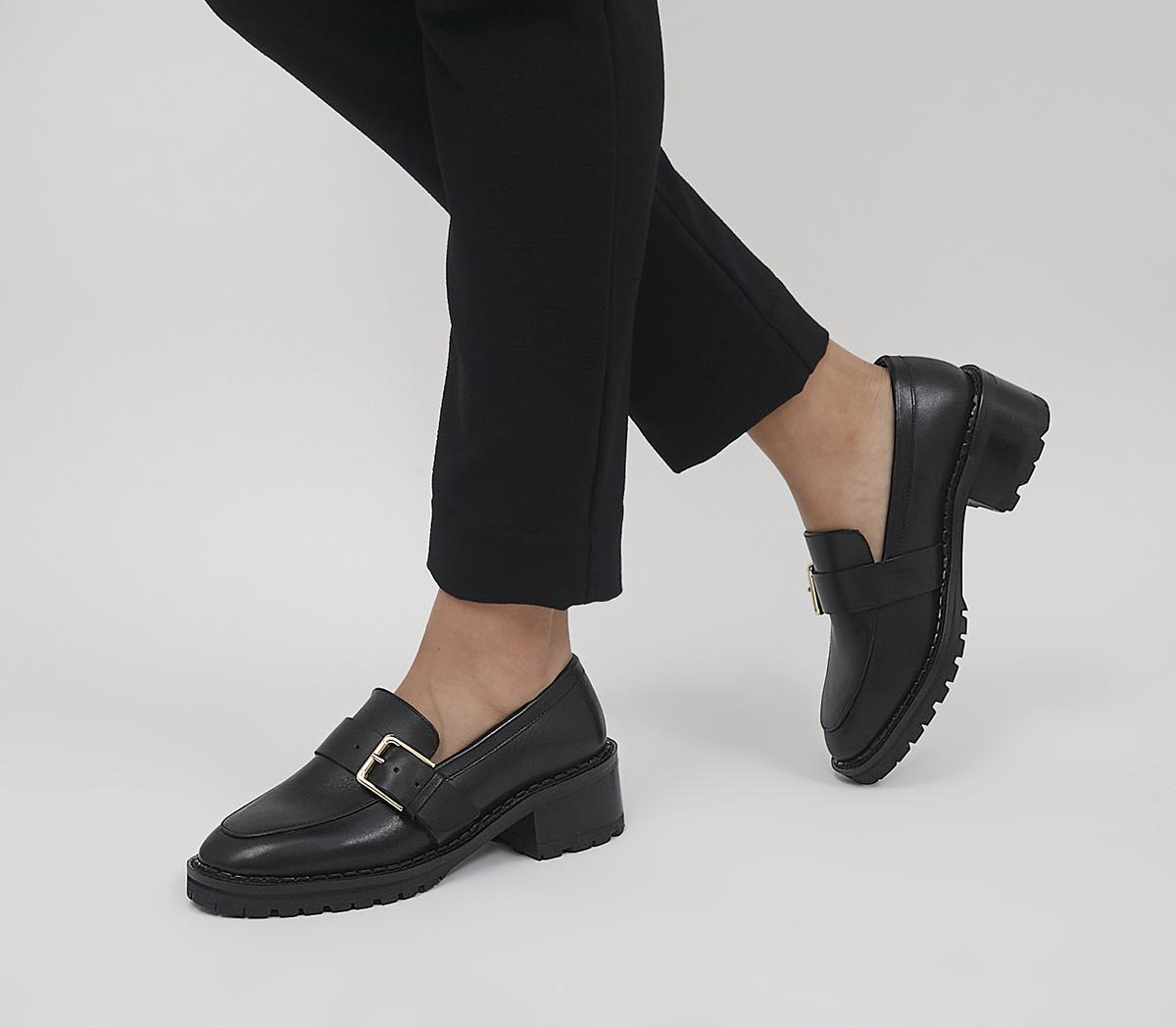 Madmen Heeled Loafers With Buckle