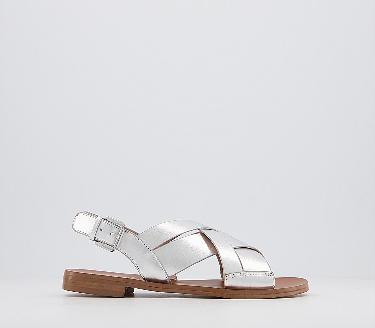Separate Cross Sling Back Sandals
