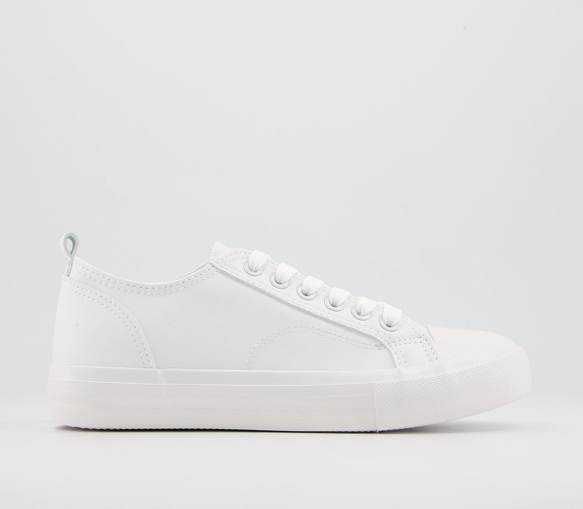 Features Textured Sole Lace Up Trainers