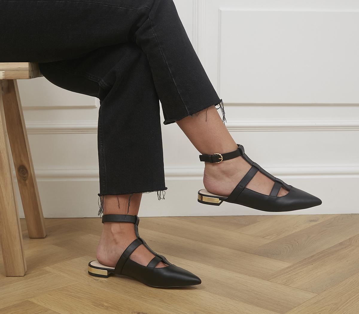 Faithless Pointed Ankle Strap Flats