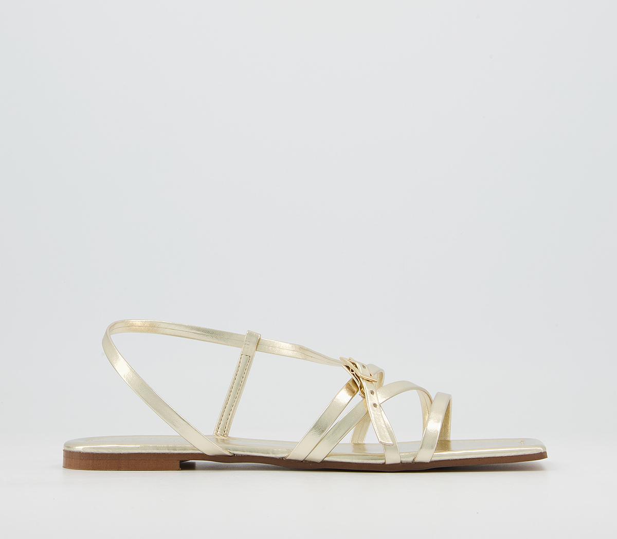 Setting Square Toe Strappy Sandals