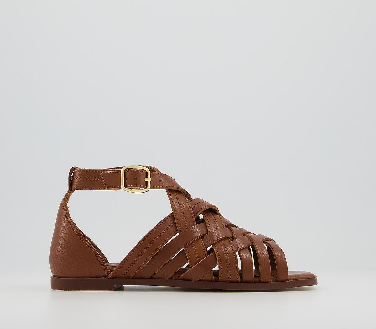 Sabina Woven Cross Strap Sandals