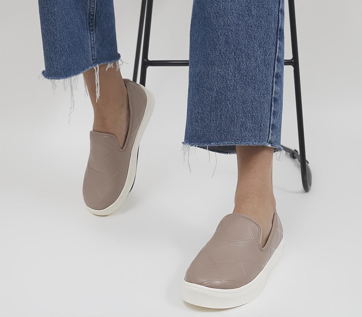 Frankincense Quilted Slip On Trainers