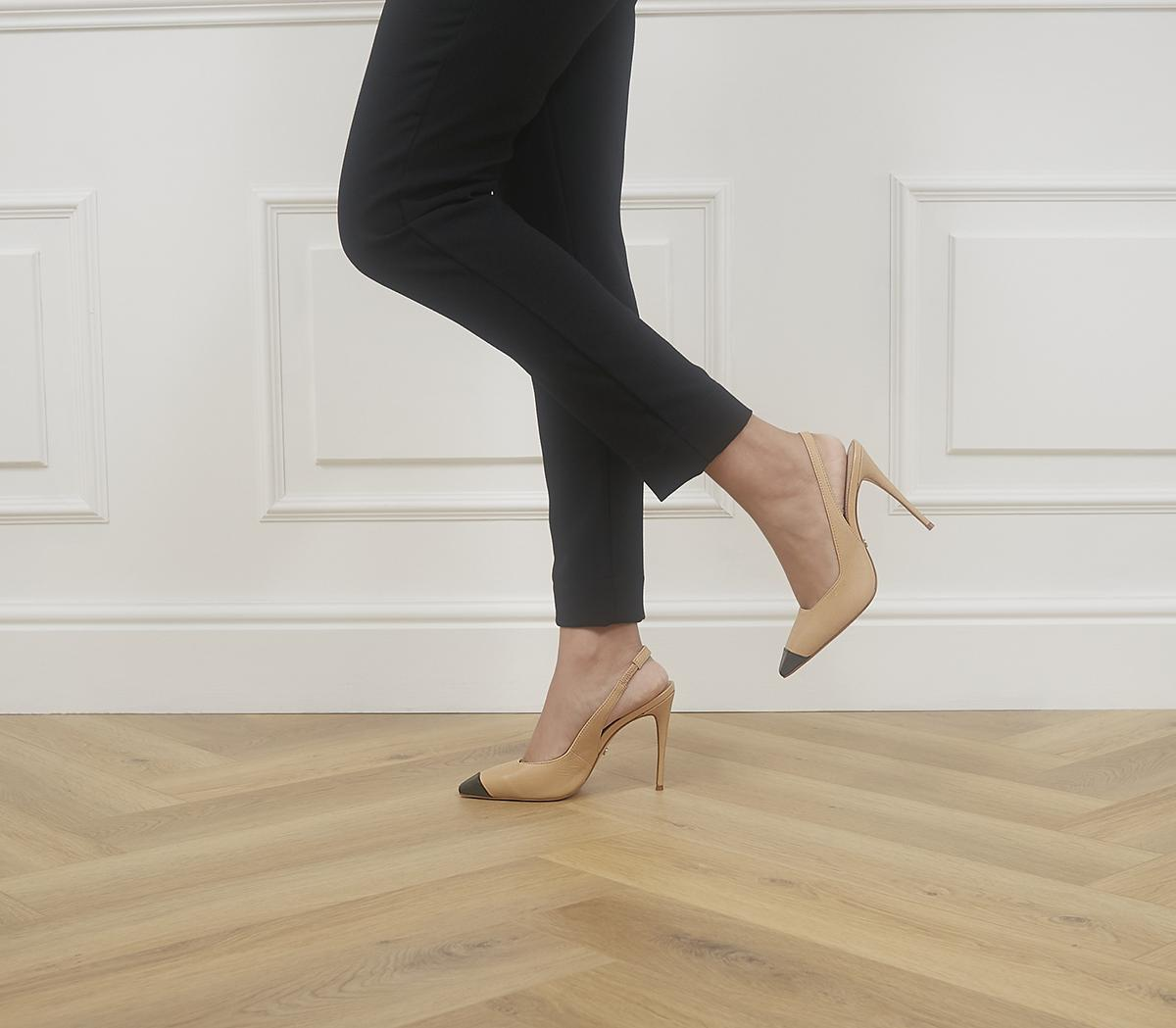 Hellbent Toe Cap Sling Back Heels