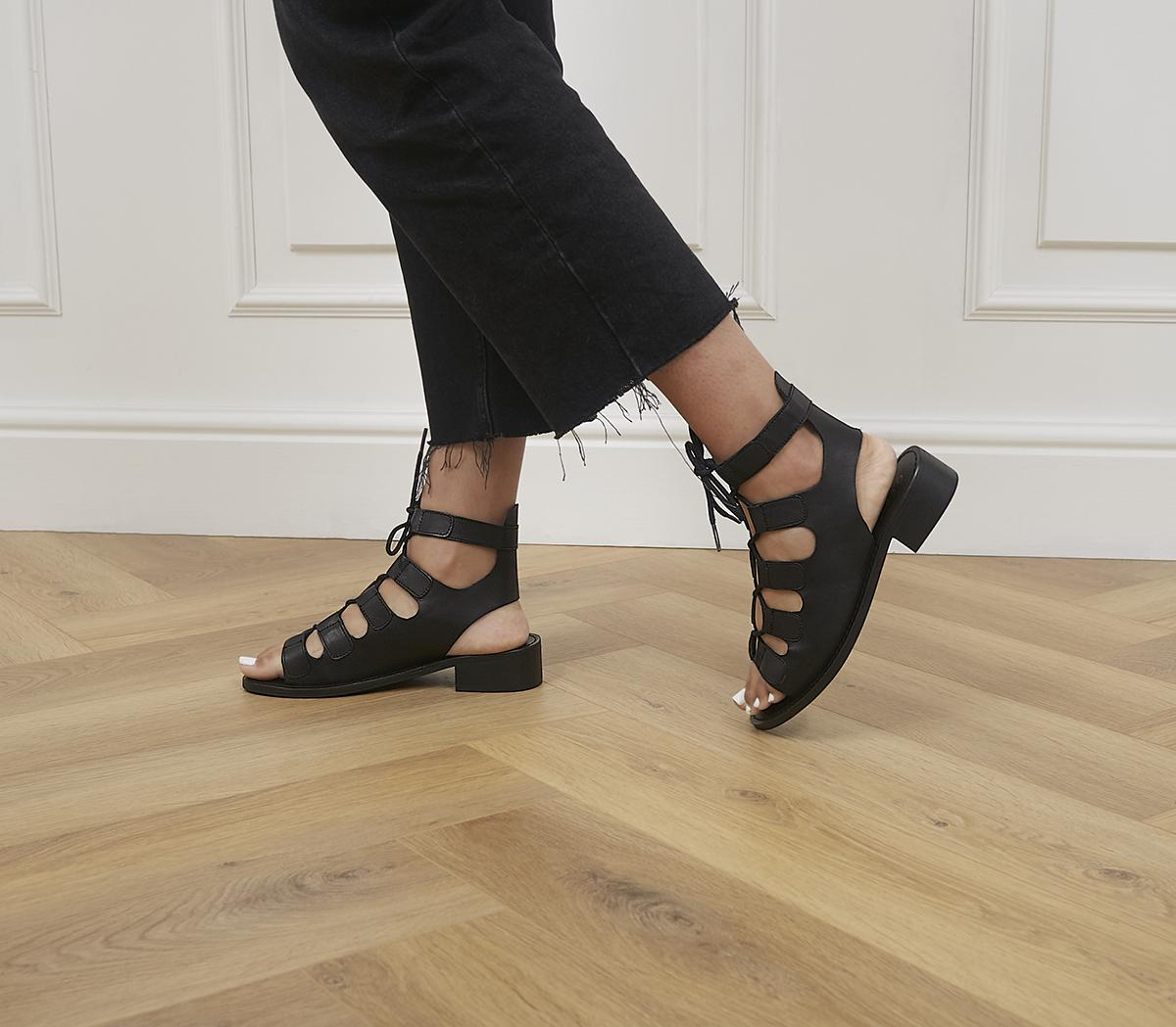 Midpoint Ghille Lace Up Block Heels