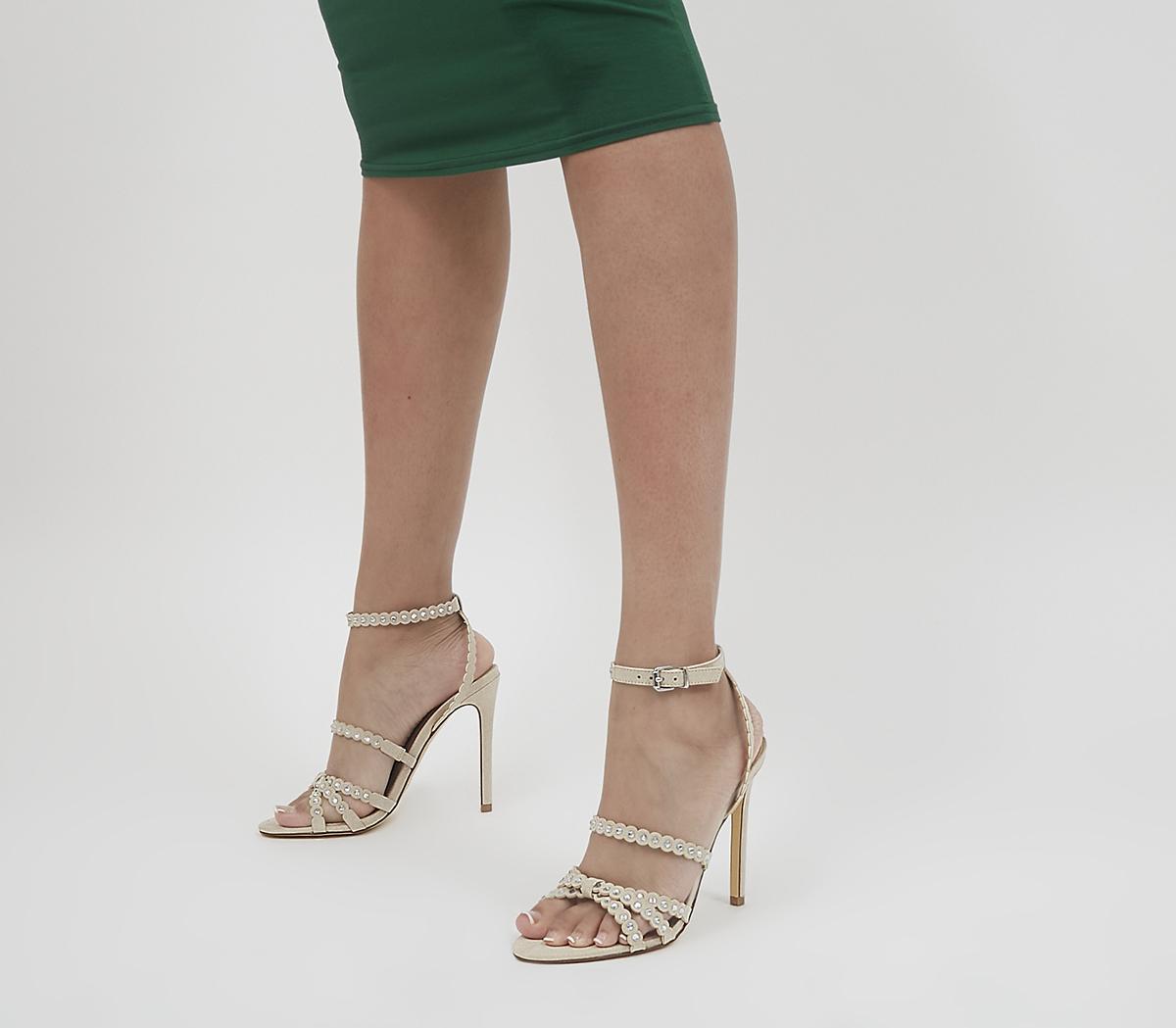 High Pressure Embellished Strappy Stilettos
