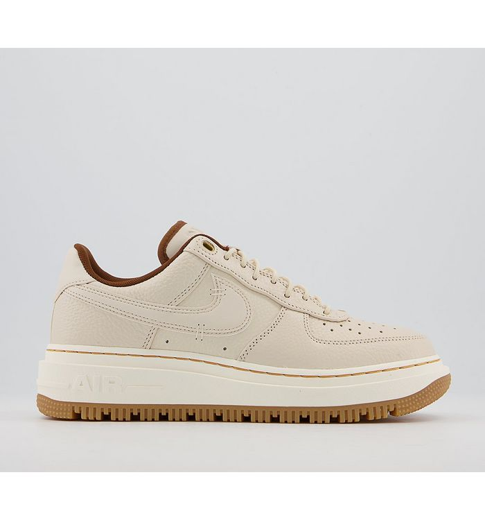 Nike Air Force 1 Luxe Trainers  PALE WHITE PALE IVORY PECAN GUM,White,Black